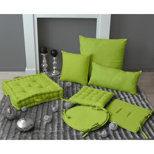 Galette de chaise   100% coton   Vert anis   Galette de chaise