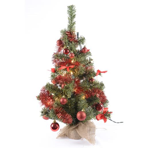 Mini Sapin De Noel Lumineux Mini sapin Vert Rouge   Sapins de Noël | La Foir'Fouille