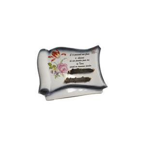 Plaque - Porcelaine - 20 x 15 cm - Multicolore
