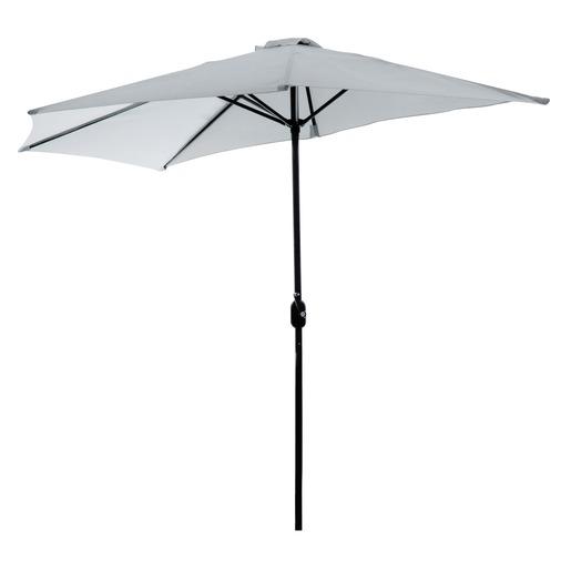 Parasol De Balcon Diametre 2 7 X H 2 4 M Gris Parasols Pieds De Parasols Et Voiles D Ombrage La Foir Fouille