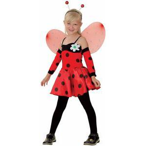 Costume enfant luxe coccinelle en polyester - S - Rouge