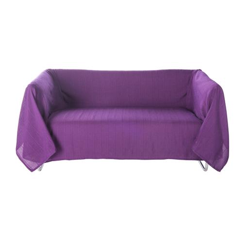 Jete De Canape Couvre Lit Polyester Coton Violet Linge De