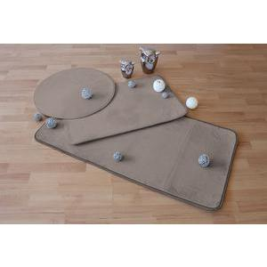 Tapis - Polyester et latex - 50 x 80 cm - Marron