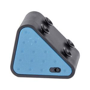 Enceinte Bluetooth triangle - 7.4 x 6.3 x 5.4 cm - Bleu vert gris ou orange