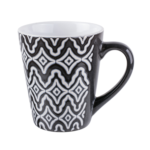 4 mugs - Porcelaine - 365 ml - Design scandinave