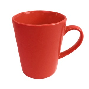 Mug conique en grès - 33 cl - Rouge