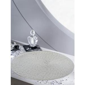 Set table brillant - Polypropylène - Diamètre 35 cm - Blanc
