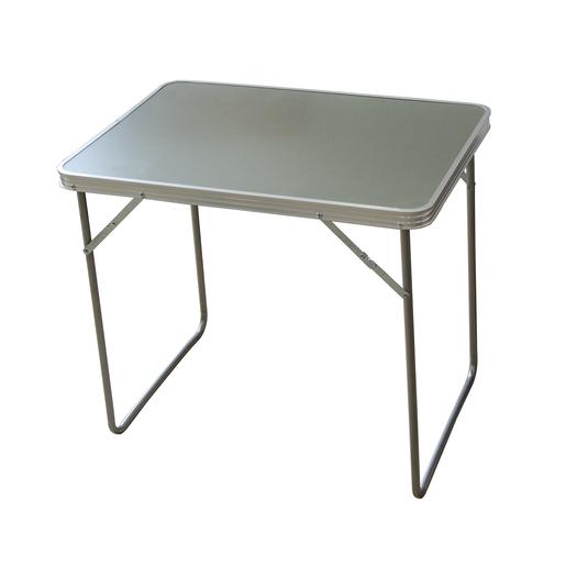Table Pliante De Camping Aluminium Acier Et Mdf Gris Mobilier De Camping La Foir Fouille
