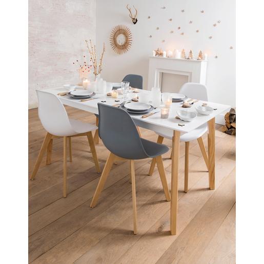ZONS Table de Salle à Manger médaillon 4 à 6 Personnes Façon