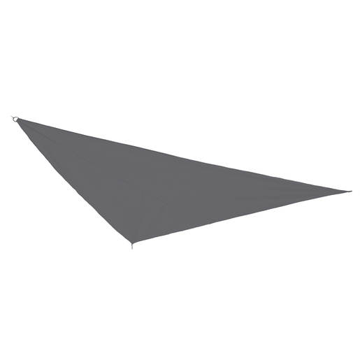Voile d'ombrage triangulaire - Polyester et Polyamide - 5 x 5 x 5 m - Anthracite