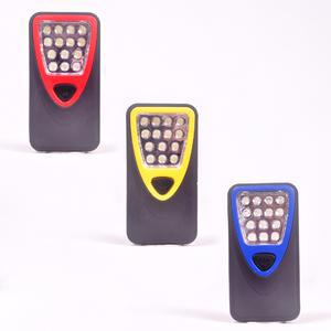 Ensemble torche 14 LED  + piles - Plastique - 11,5 x 5,5 x 2 cm - Multicolore