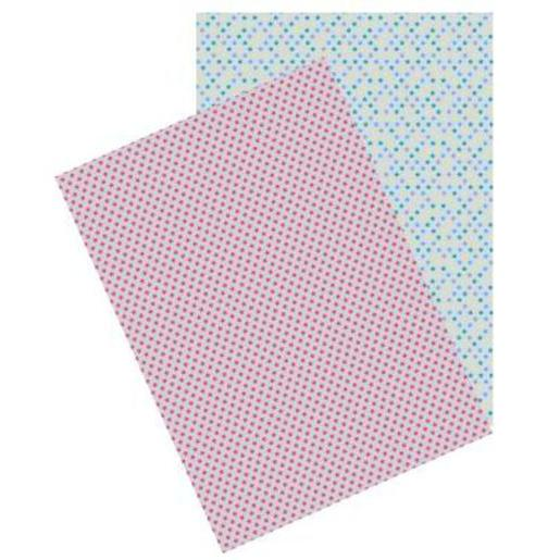 Lot de 2 feuilles Washi paper - Papier - A4 - Multicolore