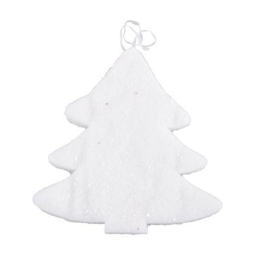 Suspension sapin - Coton - 23 x H 22,5 cm - Blanc