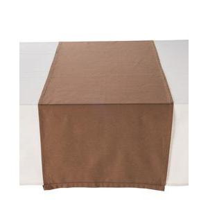 Chemin de table - 100 % coton - 50 x 150 cm - Marron