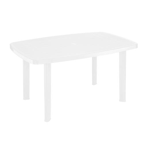 Table rectangulaire - Polypropylène - Blanc - Salon de jardin   La ...