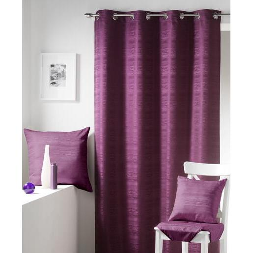 Coussin jacquard - 100 % polyester - 60 x 60 cm - Violet