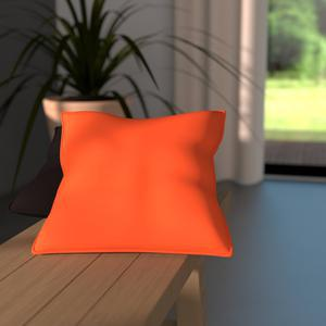 Coussin carré - 100% coton - 60x60cm - Orange mandarine