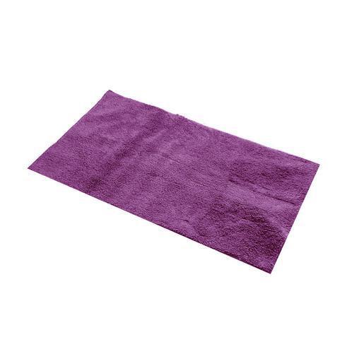 Tapis de bain - coton - Violet aubergine - Accessoires salle ...