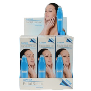 Roll-on soin du visage peau nette - Bleu