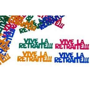 Confettis de table Vive la retraite - Multicolore