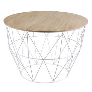 Table d'appoint panier - Blanc