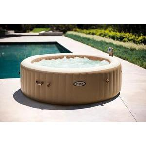 Spa rond gonflable à bulles - 6 places - 1098 L - Beige, blanc - INTEX