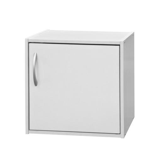 Cube De Rangement 1 Porte 36 X 29 5 X H 36 Cm Blanc Meubles De Rangement Pour La Salle A Manger La Foir Fouille