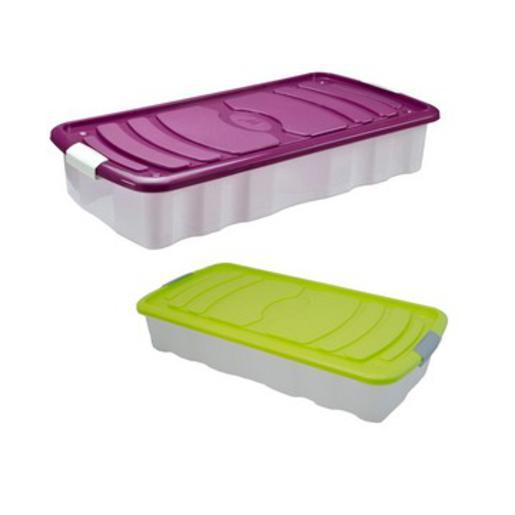 box de rangement plastique diff rents coloris rangement plastique la foir 39 fouille. Black Bedroom Furniture Sets. Home Design Ideas