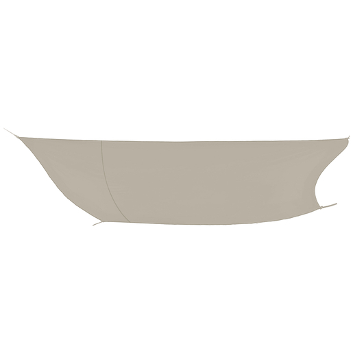 Voile D Ombrage Polyester Polyamide Marron Plein Air La Foir Fouille