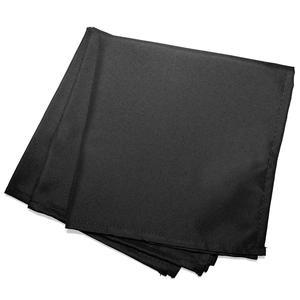 3 serviettes de table unies Essentiel - L 40 x l 40 cm - Noir