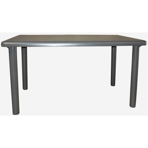 Table - Plastique - Gris - Salon de jardin | La Foir\'Fouille