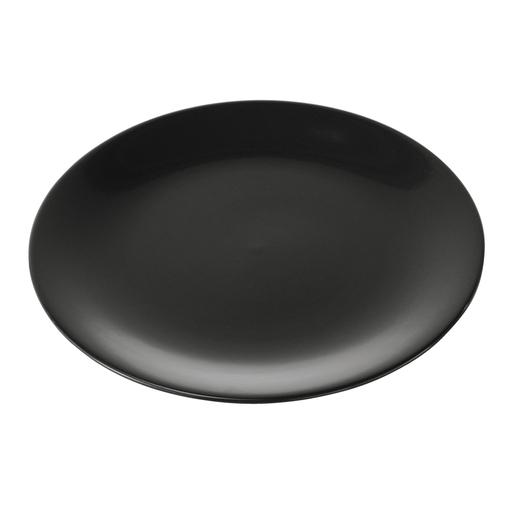 2c5ea6a25a1 Assiette plate - Grès - Noir - Service de table et art de la table ...
