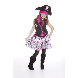 Déguisement miss pirate fashion - 4 - 12 ans - Multicolore