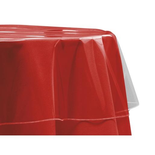 Nappe cristal en pvc - Diamètre 180 cm - Transparent - Toile ...