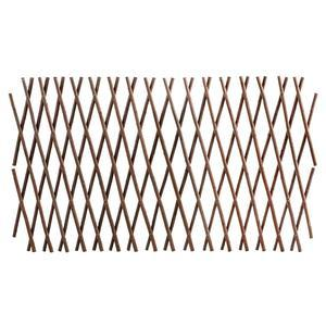 Treillis extensible - Osier - 180 x 30 cm - Marron naturel