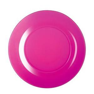 Assiette Techno Colors - Verre - Ø 25 cm - Rose