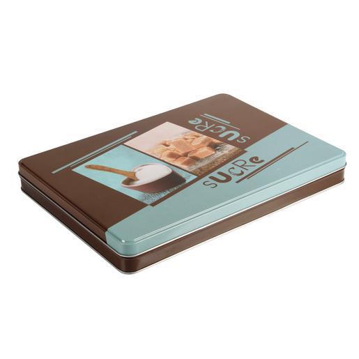 Boîte à sucre rectangulaire - Acier inoxydable - Bleu - - Matériel ...