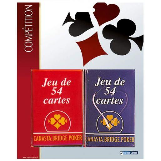 Lot de 2 jeux de 54 cartes - Papier - 17 x 27 x 24 cm - Multicolore