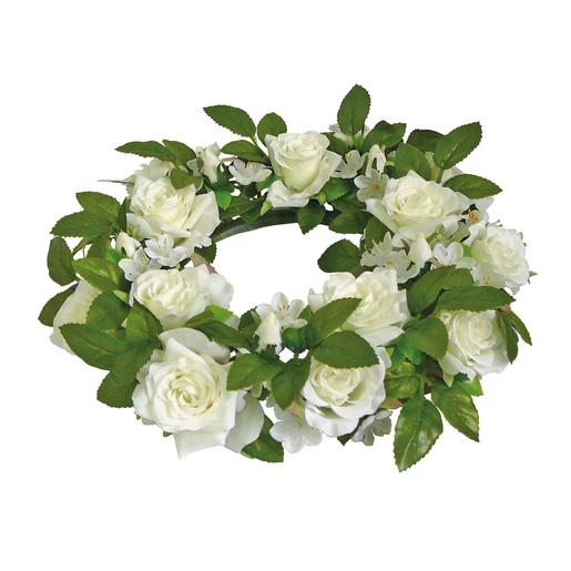 Couronne De Roses Rose Ou Blanc Compositions Florales La Foir