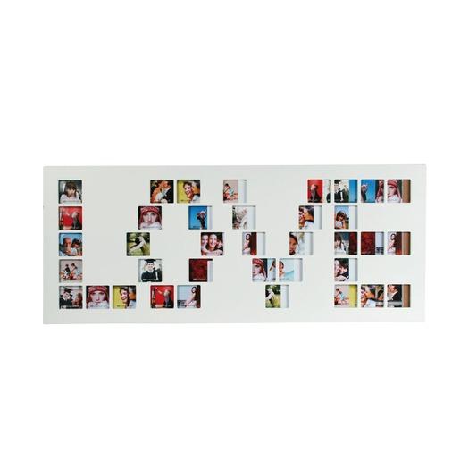 Le célèbre Multivues porte photos rectangulaire Love - 15 x 30 cm - Blanc @PM_88