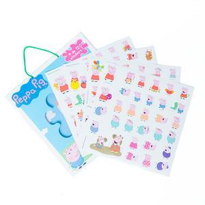 Set de 120 autocollants et plance décor Peppa Pig - 21,5 x 23 cm - Multicolore