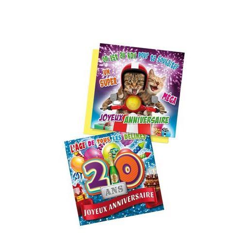Carte D Anniversaire 3d Differents Modeles Gadget Humour La