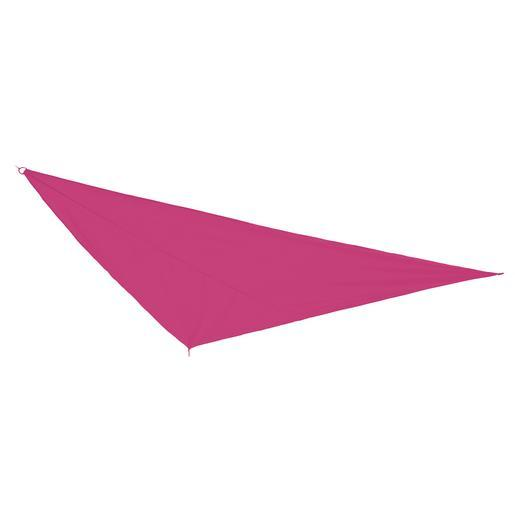 Voile d'ombrage triangulaire - Polyester - 3 x 3 x H 3 m - Rose