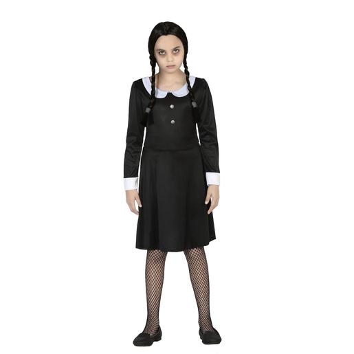 Deguisement Mercredi Addams déguisement noir - déguisement halloween pour fille | la foir'fouille