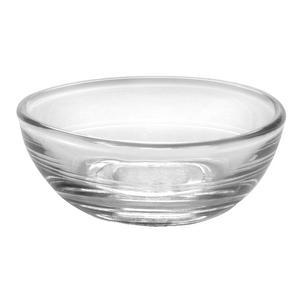 Lot de 4 coupelles rondes en verre  - Diamètre 6 cm - Blanc transparent
