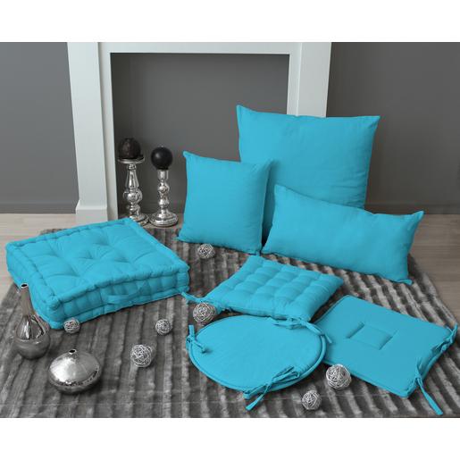 Coussin   coton   Bleu   Coussins et housses de coussins | La Foir