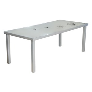 Table Ginkgo - 200 x 90 x H 74 cm - gris