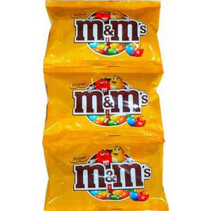 Lot de 3 sachets M&M's peanuts - 3 x 45 g