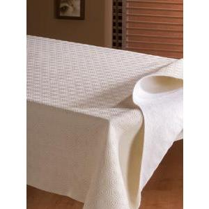 Protège table rectangulaire - PVC et polyester - 135 x 250 cm - Blanc