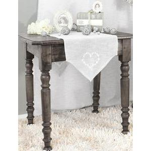 Chemin de table - 100% polyester - 40 x 140 cm - Beige